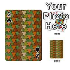 Geo Fun 7 Warm Autumn  Playing Cards 54 Designs