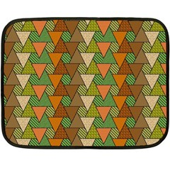Geo Fun 7 Warm Autumn  Fleece Blanket (Mini)