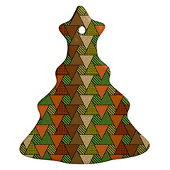 Geo Fun 7 Warm Autumn  Ornament (christmas Tree)