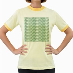 Geo Fun 7 Women s Fitted Ringer T-Shirts
