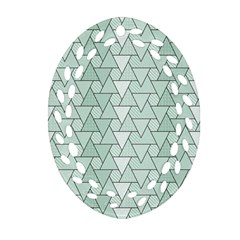 Geo Fun 7 Oval Filigree Ornament (2-Side)