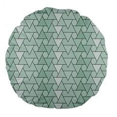 Geo Fun 7 Large 18  Premium Flano Round Cushions