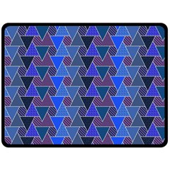 Geo Fun 7 Inky Blue Fleece Blanket (large)