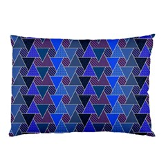 Geo Fun 7 Inky Blue Pillow Cases (Two Sides)