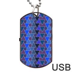 Geo Fun 7 Inky Blue Dog Tag USB Flash (Two Sides)