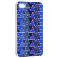 Geo Fun 7 Inky Blue Apple iPhone 4/4s Seamless Case (White)