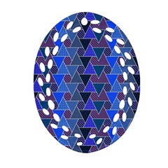 Geo Fun 7 Inky Blue Ornament (oval Filigree)