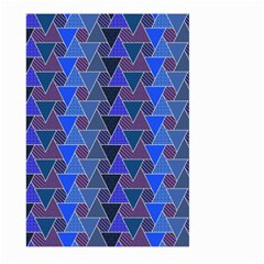 Geo Fun 7 Inky Blue Large Garden Flag (Two Sides)