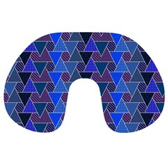 Geo Fun 7 Inky Blue Travel Neck Pillows