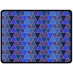Geo Fun 7 Inky Blue Double Sided Fleece Blanket (large)