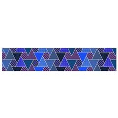 Geo Fun 7 Inky Blue Flano Scarf (small)