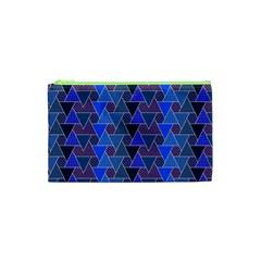 Geo Fun 7 Inky Blue Cosmetic Bag (XS)