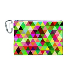 Geo Fun 07 Canvas Cosmetic Bag (m)