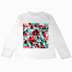 Geo Fun 07 Red Kids Long Sleeve T-Shirts