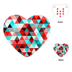 Geo Fun 07 Red Playing Cards (Heart)