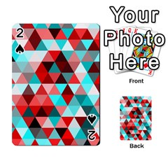 Geo Fun 07 Red Playing Cards 54 Designs