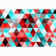 Geo Fun 07 Red Collage 12  x 18