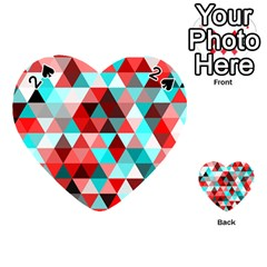 Geo Fun 07 Red Playing Cards 54 (Heart)
