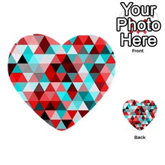 Geo Fun 07 Red Multi Purpose Cards (heart)