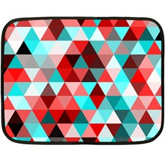 Geo Fun 07 Red Fleece Blanket (Mini)