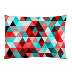 Geo Fun 07 Red Pillow Cases (Two Sides)