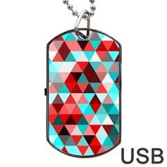 Geo Fun 07 Red Dog Tag USB Flash (Two Sides)