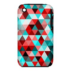 Geo Fun 07 Red Apple Iphone 3g/3gs Hardshell Case (pc+silicone)