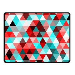 Geo Fun 07 Red Double Sided Fleece Blanket (small)