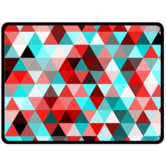 Geo Fun 07 Red Double Sided Fleece Blanket (large)