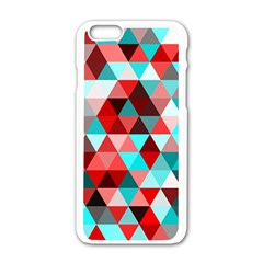 Geo Fun 07 Red Apple Iphone 6 White Enamel Case