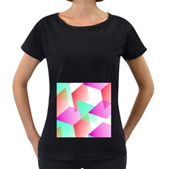 Geometric 03 Pink Women s Loose Fit T Shirt (black)