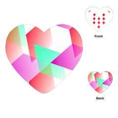 Geometric 03 Pink Playing Cards (Heart)