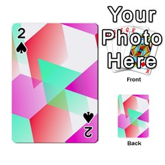 Geometric 03 Pink Playing Cards 54 Designs