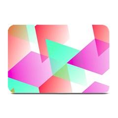 Geometric 03 Pink Plate Mats