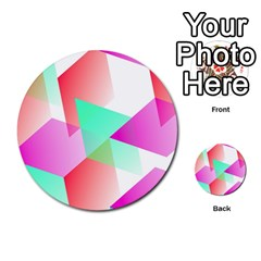Geometric 03 Pink Multi-purpose Cards (Round)