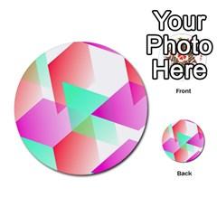 Geometric 03 Pink Multi Purpose Cards (round)