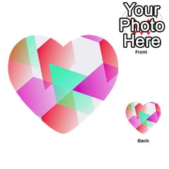 Geometric 03 Pink Multi Purpose Cards (heart)