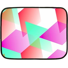 Geometric 03 Pink Fleece Blanket (Mini)