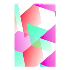 Geometric 03 Pink Shower Curtain 48  x 72  (Small)