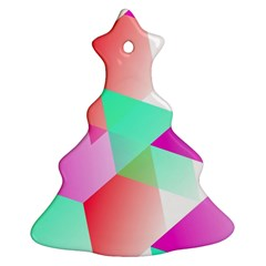Geometric 03 Pink Christmas Tree Ornament (2 Sides)