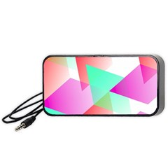 Geometric 03 Pink Portable Speaker (Black)