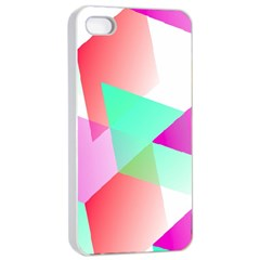 Geometric 03 Pink Apple Iphone 4/4s Seamless Case (white)