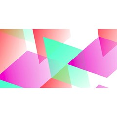 Geometric 03 Pink You Are Invited 3d Greeting Card (8x4)