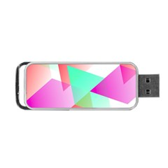 Geometric 03 Pink Portable Usb Flash (one Side)
