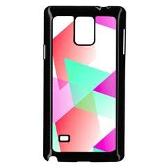 Geometric 03 Pink Samsung Galaxy Note 4 Case (Black)