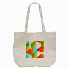 Geometric 03 Orange Tote Bag (cream)