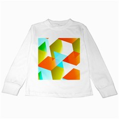 Geometric 03 Orange Kids Long Sleeve T-Shirts