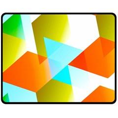 Geometric 03 Orange Fleece Blanket (medium)