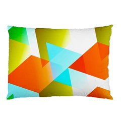 Geometric 03 Orange Pillow Cases (two Sides)