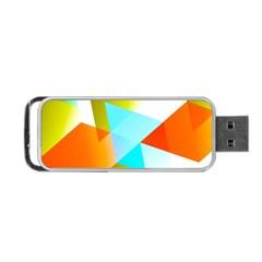 Geometric 03 Orange Portable USB Flash (Two Sides)